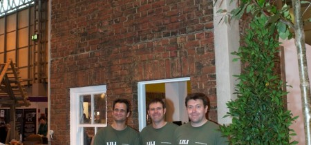 The Green Power team outside the Green Home we built with LILI & partners